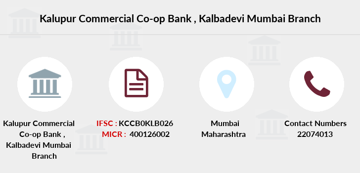 Kalupur-commercial-co-op-bank Kalbadevi-mumbai branch