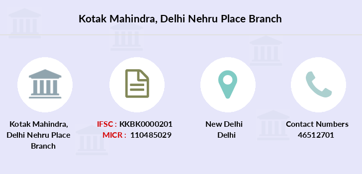 Kotak-mahindra-bank Delhi-nehru-place branch