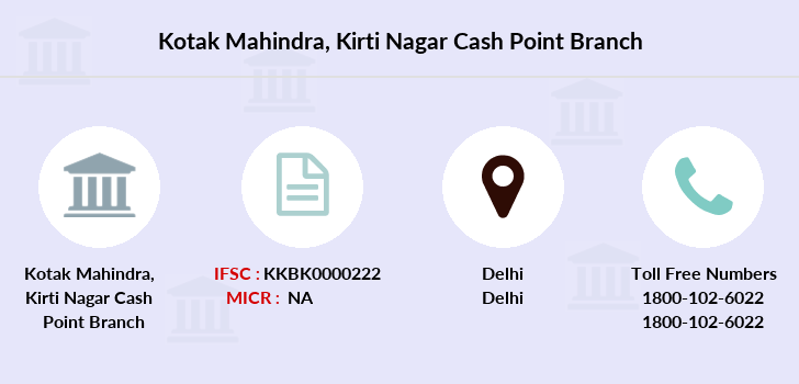 Kotak-mahindra-bank Kirti-nagar-cash-point branch