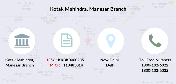 Kotak-mahindra-bank Manesar branch