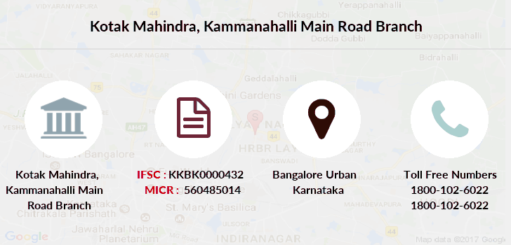 Kotak-mahindra-bank Kammanahalli-main-road branch