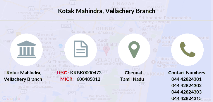 Kotak-mahindra-bank Vellachery branch