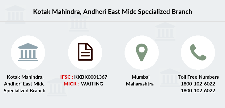 Kotak-mahindra-bank Andheri-east-midc-specialized branch