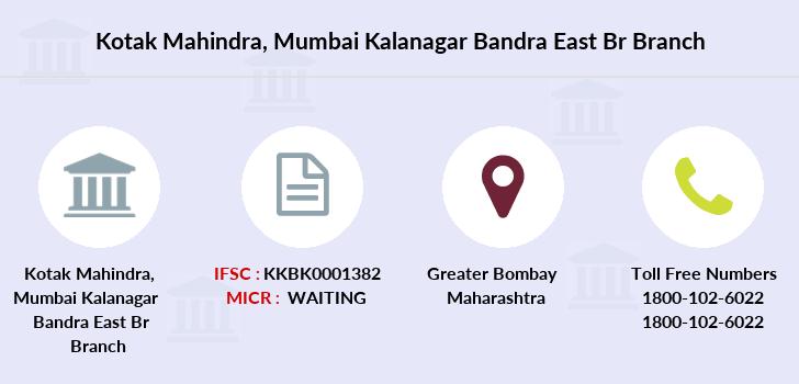 kotak mahindra bank ifsc code bkc mumbai