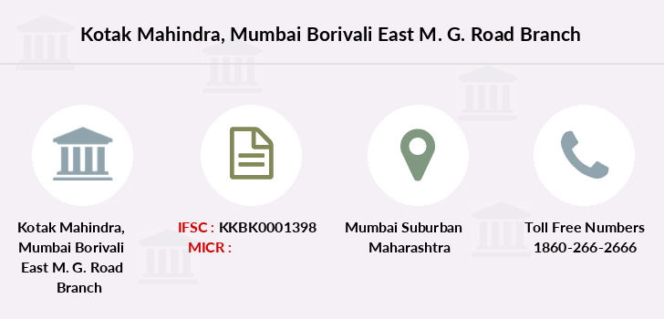 Kotak-mahindra-bank Mumbai-borivali-east-m-g-road branch