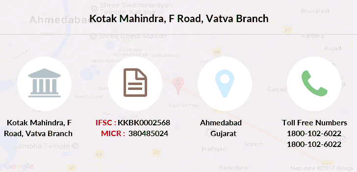 Kotak-mahindra-bank F-road-vatva branch