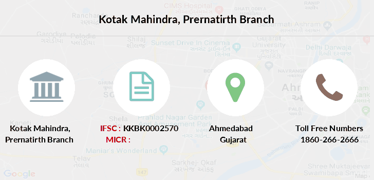 Kotak-mahindra-bank Prernatirth branch