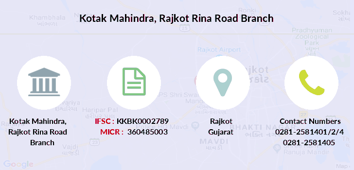 Kotak-mahindra-bank Rajkot-rina-road branch