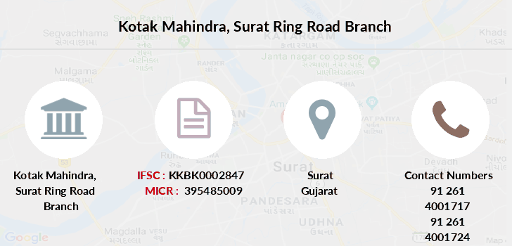 Kotak-mahindra-bank Surat-ring-road branch