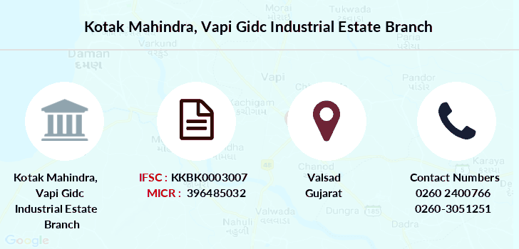 Kotak-mahindra-bank Vapi-gidc-industrial-estate branch