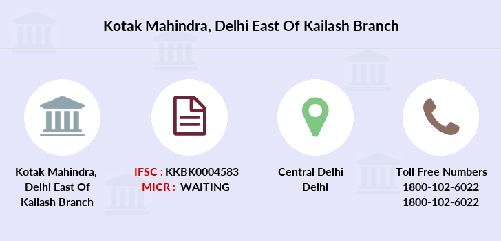 Kotak-mahindra-bank Delhi-east-of-kailash branch