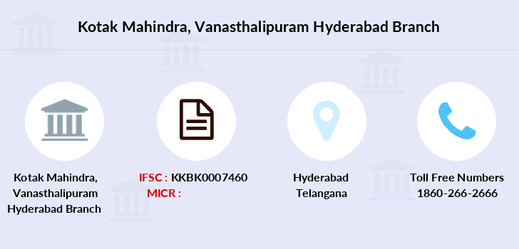 Kotak-mahindra-bank Vanasthalipuram-hyderabad branch