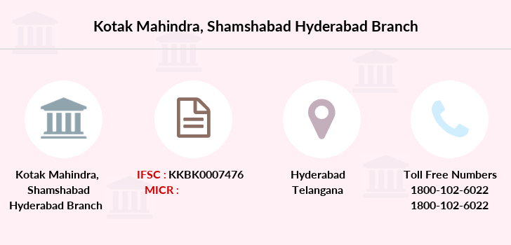Kotak-mahindra-bank Shamshabad-hyderabad branch