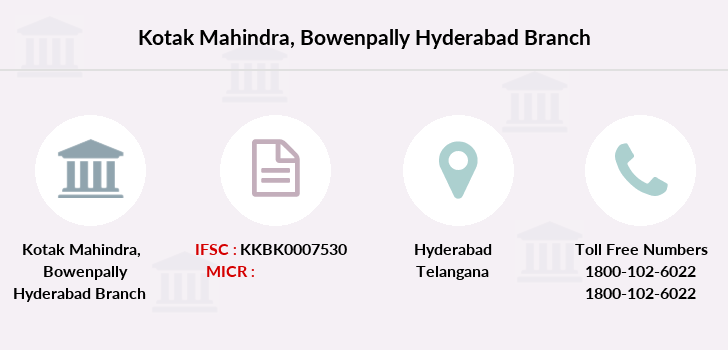 Kotak-mahindra-bank Bowenpally-hyderabad branch