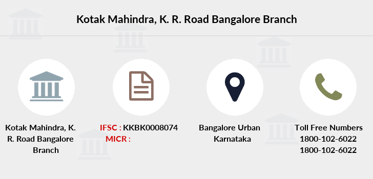 Kotak-mahindra-bank K-r-road-bangalore branch