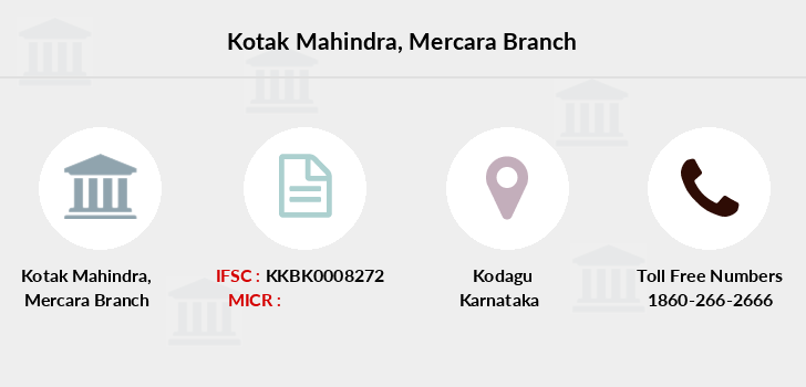 Kotak-mahindra-bank Mercara branch