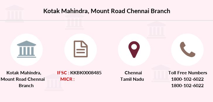 Kotak-mahindra-bank Mount-road-chennai branch