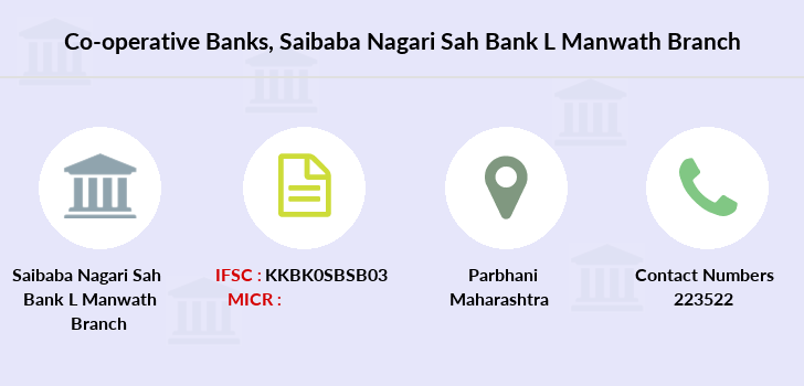 Co-operative-banks Saibaba-nagari-sah-bank-l-manwath branch