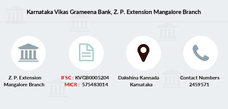 Karnataka-vikas-grameena-bank Z-p-extension-mangalore branch