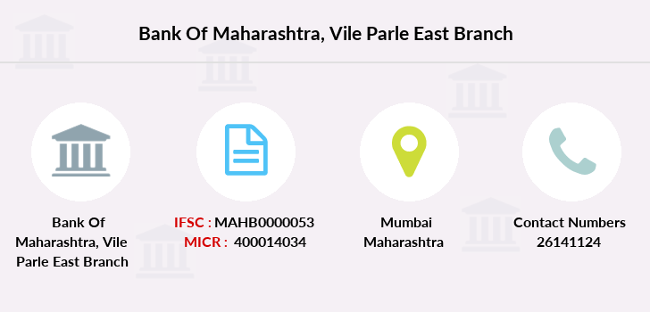 Bank-of-maharashtra Vile-parle-east branch