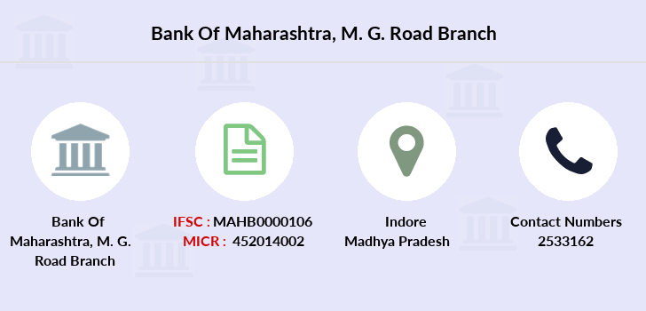 Bank-of-maharashtra M-g-road-indore branch