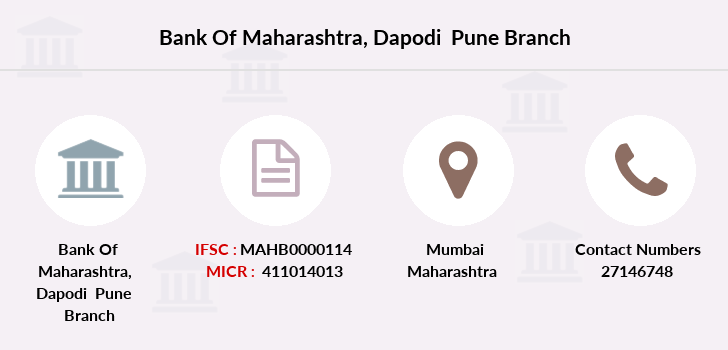 Bank-of-maharashtra Dapodi-pune branch