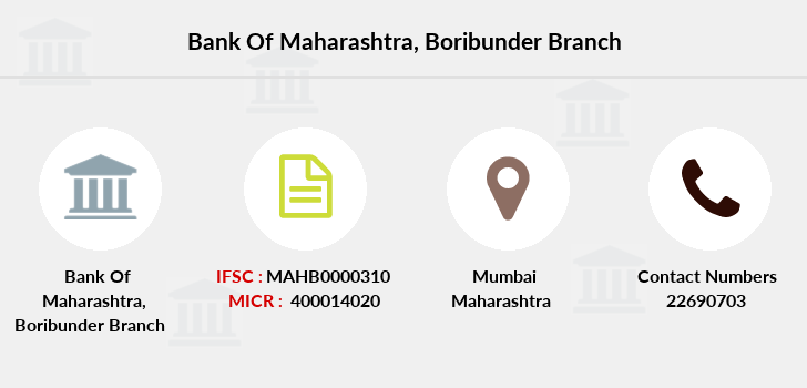 Bank-of-maharashtra Boribunder branch
