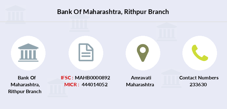 Bank-of-maharashtra Rithpur branch