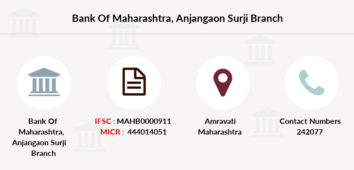 Bank-of-maharashtra Anjangaon-surji branch