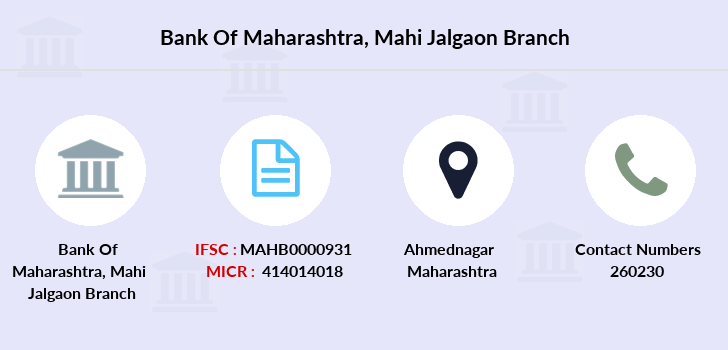 Bank-of-maharashtra Mahi-jalgaon branch