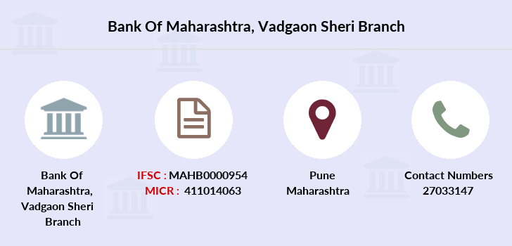Bank-of-maharashtra Vadgaon-sheri branch
