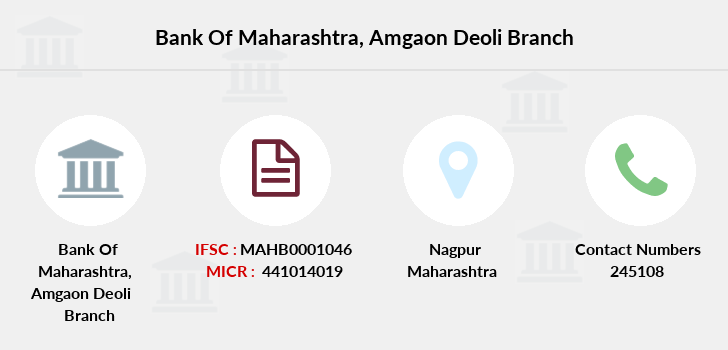 Bank-of-maharashtra Amgaon-deoli branch