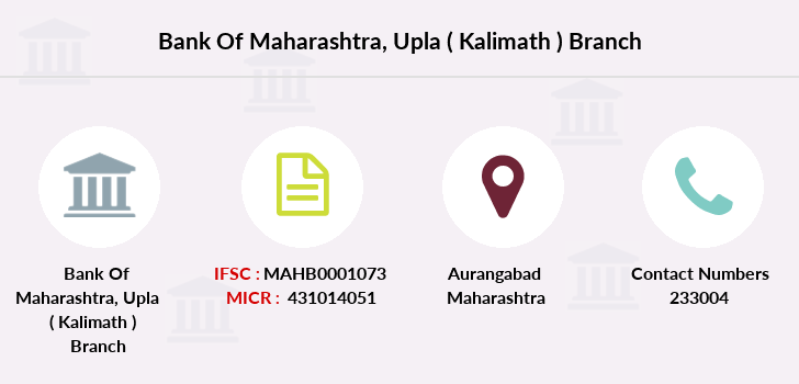 Bank-of-maharashtra Upla-kalimath branch