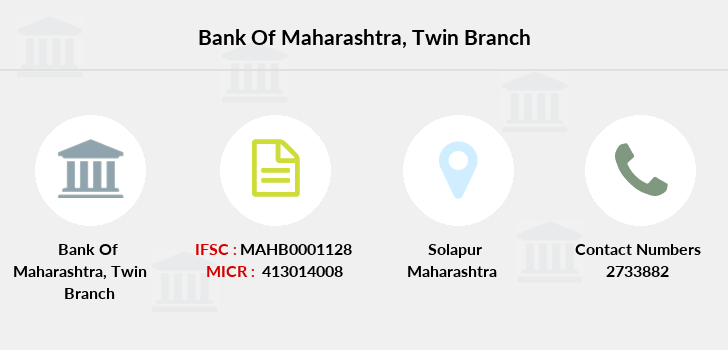 Bank-of-maharashtra Twin branch