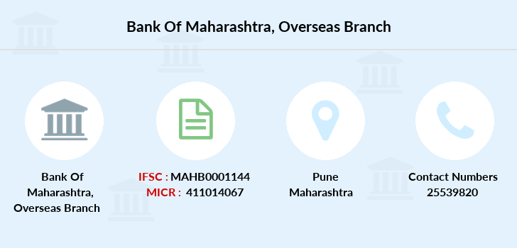 Bank-of-maharashtra Overseas branch