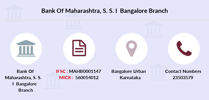 Bank-of-maharashtra S-s-i-bangalore branch