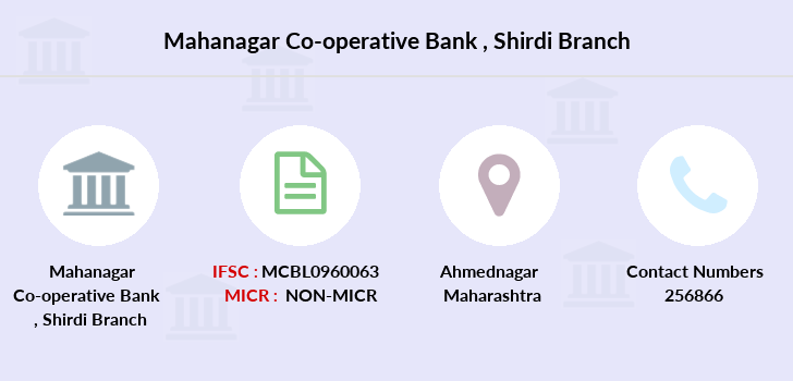 Mahanagar-co-op-bank Shirdi branch