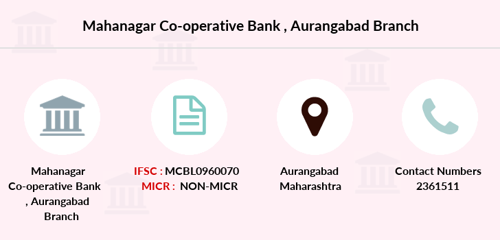 Mahanagar-co-op-bank Aurangabad branch