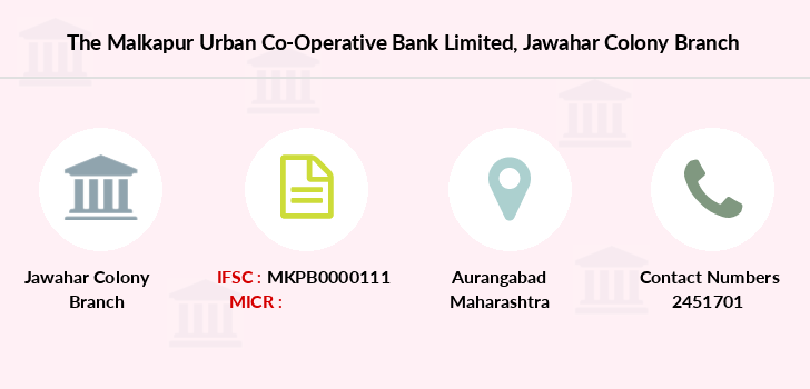 The-malkapur-urban-co-operative-bank-limited Jawahar-colony branch