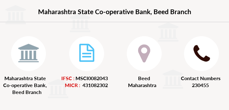 Maharashtra-state-co-op-bank Beed branch