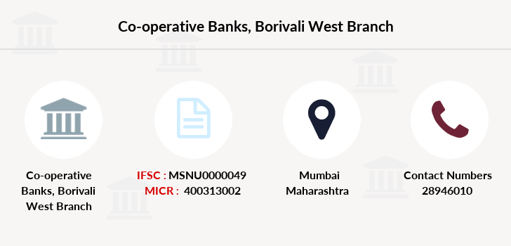 Co-operative-banks Borivali-west branch