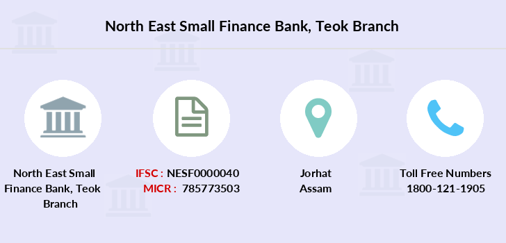 North-east-small-finance-bank Teok branch