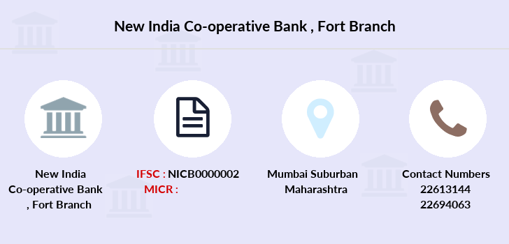New-india-co-op-bank Fort branch