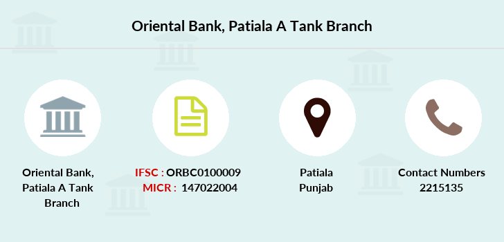 Oriental-bank-of-commerce Patiala-a-tank branch