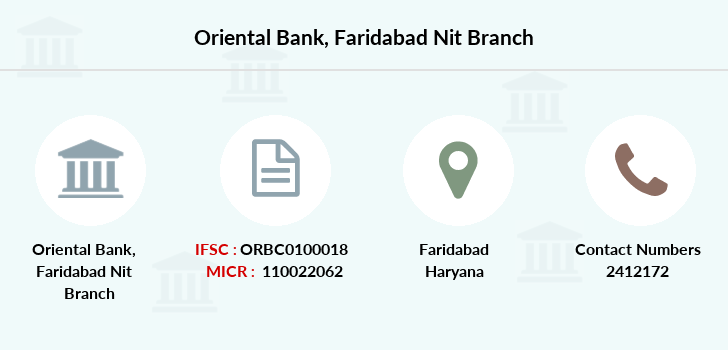 Oriental-bank-of-commerce Faridabad-nit branch