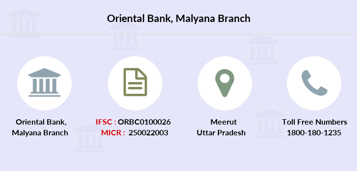 Oriental-bank-of-commerce Malyana branch