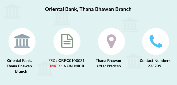 Oriental-bank-of-commerce Thana-bhawan branch