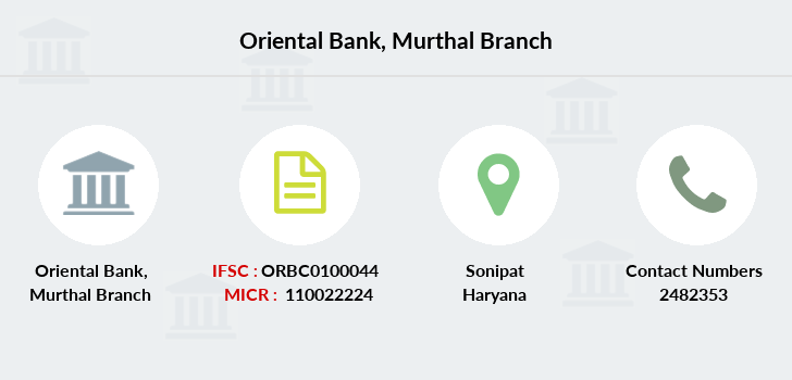 Oriental-bank-of-commerce Murthal branch