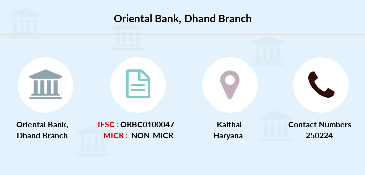 Oriental-bank-of-commerce Dhand branch