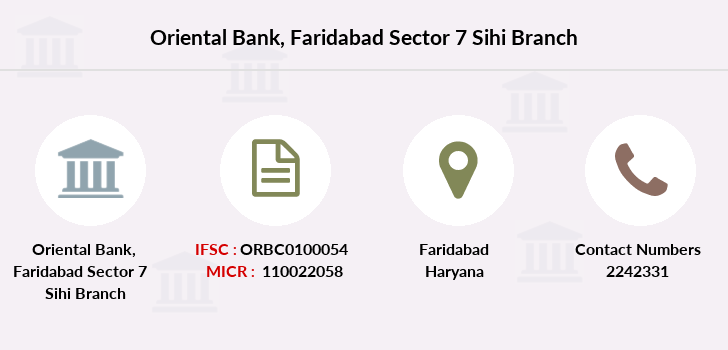 Oriental-bank-of-commerce Faridabad-sector-7-sihi branch